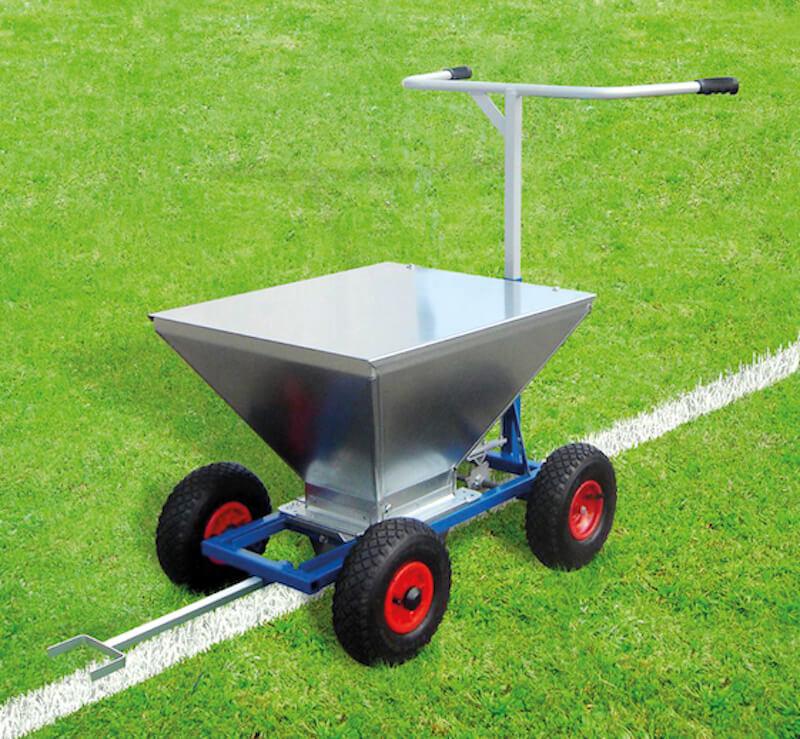 sportplatzkreide anwendung markierwagen